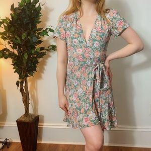 Reformation Floral Wrap Dress